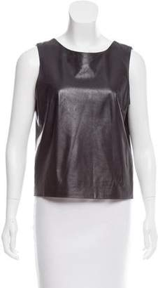 The Row Leather Sleeveless Top
