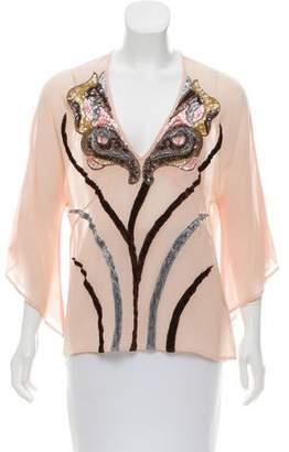 Antik Batik Embellished Silk Top
