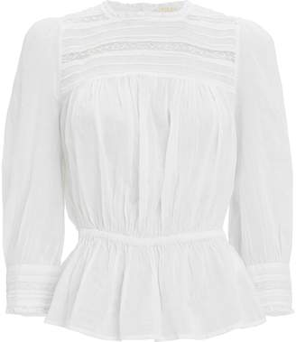 By Ti Mo Bytimo Lace-Trimmed Cotton Organza Blouse