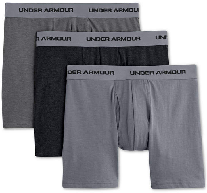 """Under Armour Charged Cotton Stretch 6"""" Boxerjock 3-PackMen's Underwear"""