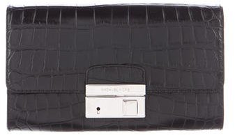 MICHAEL Michael Kors Michael Kors Embossed Leather Gia Clutch
