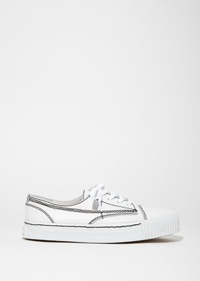 Alexander Wang Perry Low Soft Pebble Sneaker $425 thestylecure.com
