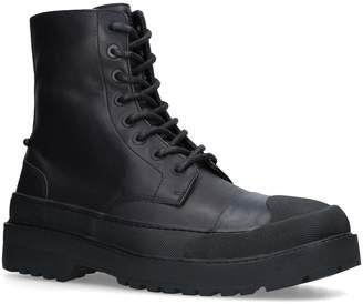 Neil Barrett Leather Military Commando Boots