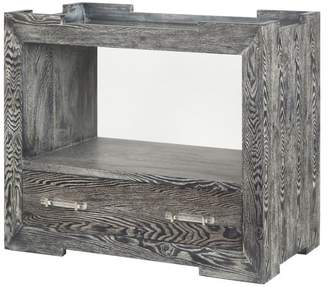Worlds Away Tray Top 1-Drawer Side Table