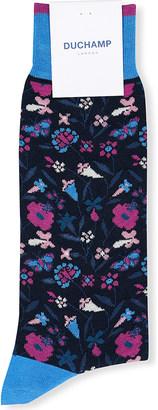 Duchamp Floral cotton-blend socks $19 thestylecure.com