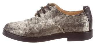 MM6 MAISON MARGIELA Suede Round-Toe Oxfords