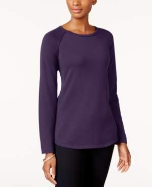 Karen Scott Petite Cotton Sweater, Created for Macy's
