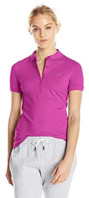 Lacoste Women's Short Sleeve Slim Fit Stretch Pique Polo