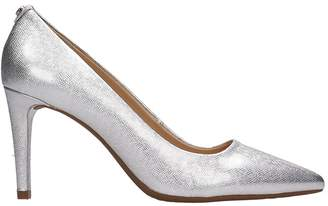 Michael Kors Silver Leather Dorothy Pumps