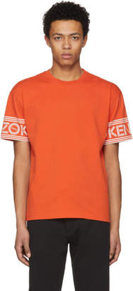 Kenzo Orange Logo Sleeve T-Shirt
