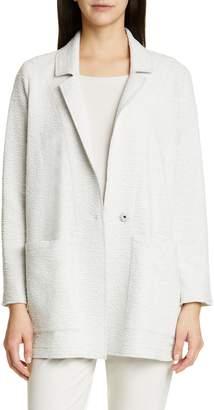 Eileen Fisher Notch Lapel Boxy Jacket
