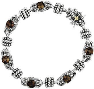 Couture FINE JEWELRY Shey Smoky Quartz Sterling Silver Antiqued Bracelet