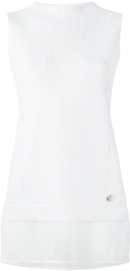Versace Versace Jeans ribbed layer tank