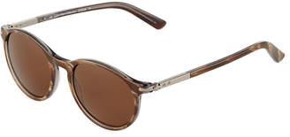 Calvin Klein Collection Round Acetate/Metal Sunglasses