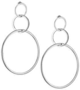 Jennifer Zeuner Jewelry Moore Sterling Silver Hoop Earrings