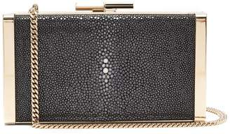Jimmy Choo J Box stingray-leather clutch