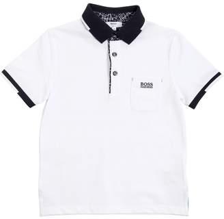 HUGO BOSS Cotton Jersey Polo Shirt