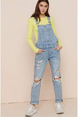 Garage Light Wash Distressed Overall