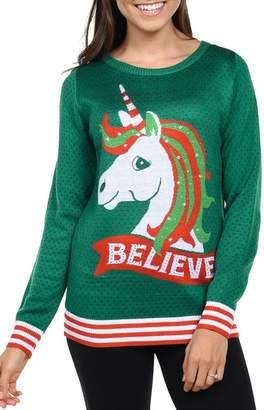 Tipsy Elves Unicorn Believe Sweater