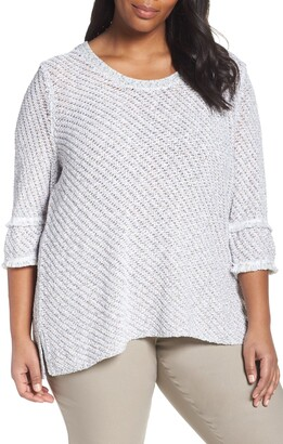 Nic+Zoe To the Point Cotton Blend Sweater