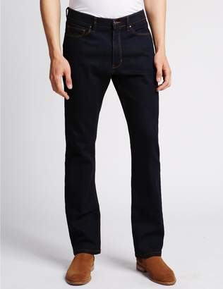 Marks and Spencer Straight Fit Stretch Jeans with Stormwear