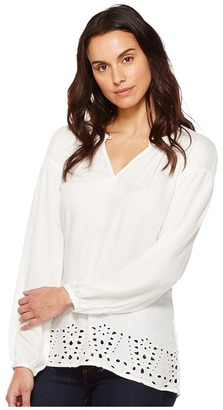 B Collection by Bobeau - Lucie Embroidered Blouse Women's Blouse $76 thestylecure.com