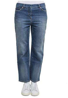 Valentino Light Blue Cotton Jeans