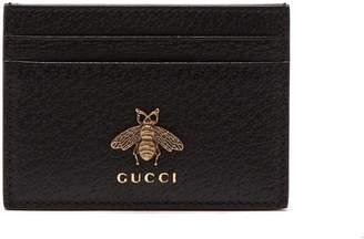 Gucci Bee-embellished leather cardholder
