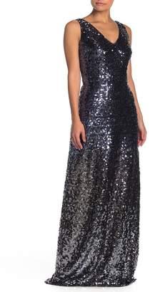 Marina Sleeveless Sequin Long Dress