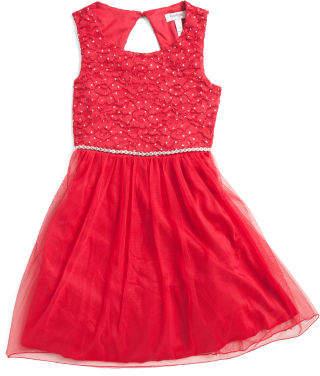 Big Girls Special Occasion Dress With Rhinestones
