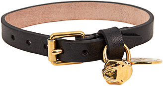 ALEXANDER MCQUEEN Skull charm leather bracelet $143 thestylecure.com