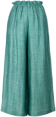 Masscob cropped wide-leg trousers