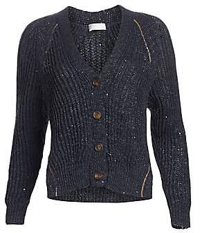Brunello Cucinelli Women's Ribbed Button-Front Cardigan