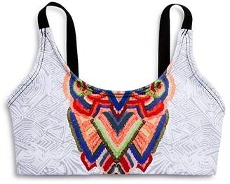 Onzie Girls' Tribal Print Bra Top - Big Kid