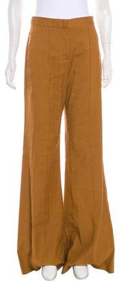 Diane von Furstenberg Linen High-Rise Pants