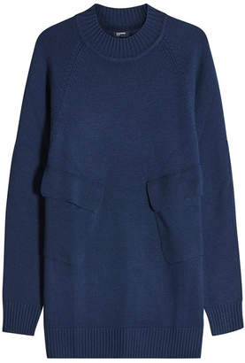 Jil Sander Navy Knit Tunic with Pockets