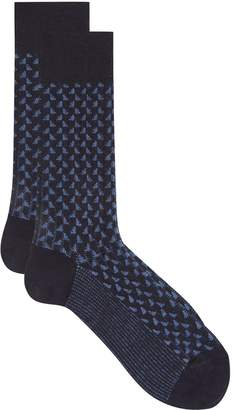 Dore Dore Contrast Triangle Merino Wool Socks