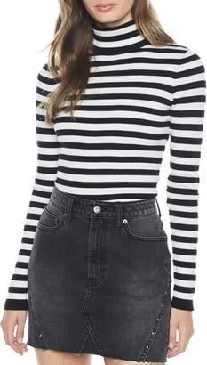 Bardot Stripe Turtleneck Sweater