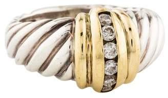 David Yurman Diamond Shrimp Dome Cocktail Ring