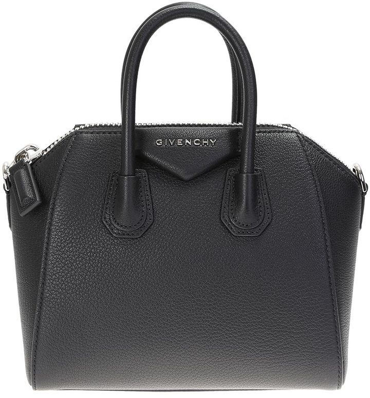 Givenchy Black Grain Leather Antigona Mini Bag