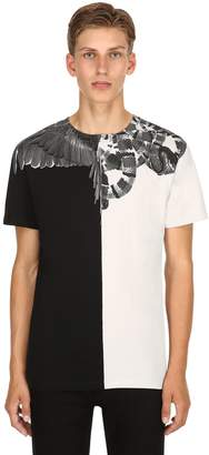 Marcelo Burlon County of Milan Wings & Snake Cotton Jersey T-Shirt