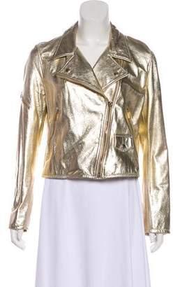 Simonetta Ravizza Metallic Leather Jacket