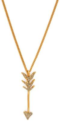Givenchy Crystal Embellished Arrow Necklace - Womens - Gold