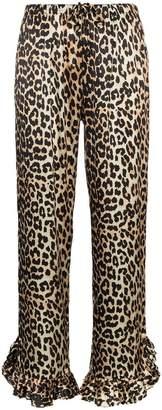 Ganni ruffle high waisted trousers