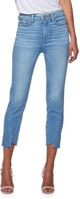 Paige Hoxton Slim Crop Frayed Jeans