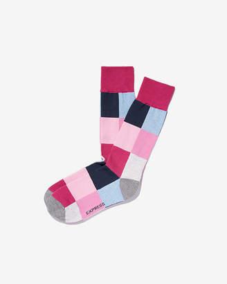 Express Big Check Dress Socks