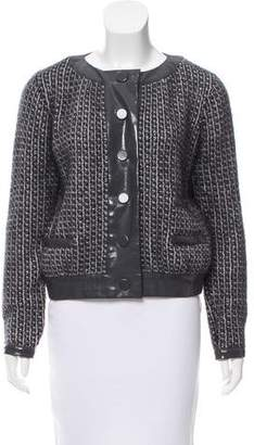 Chloé Crew Neck Long Sleeve Cardigan