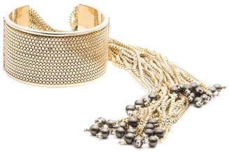 Alexis Bittar Box Chain Fringe Cuff Bracelet