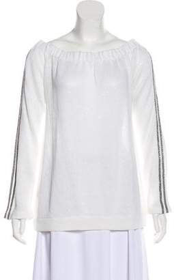 Brunello Cucinelli Embellished Long Sleeve Sweater w/ Tags