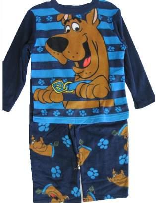 Scooby-Doo Big Boys Blue Cartoon Character Printed 2 Pc Pajama Set